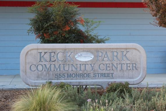 Keck Park Sign