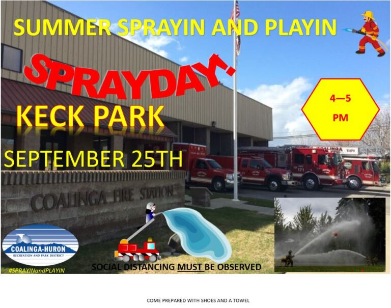 CHRPD AND COALINGA FIRE SPRAY DAY