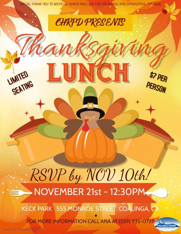 Coalinga Thanksgiving 2020