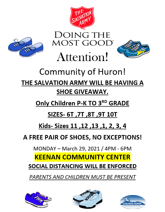 Salvation Army Shoe Drive 2021