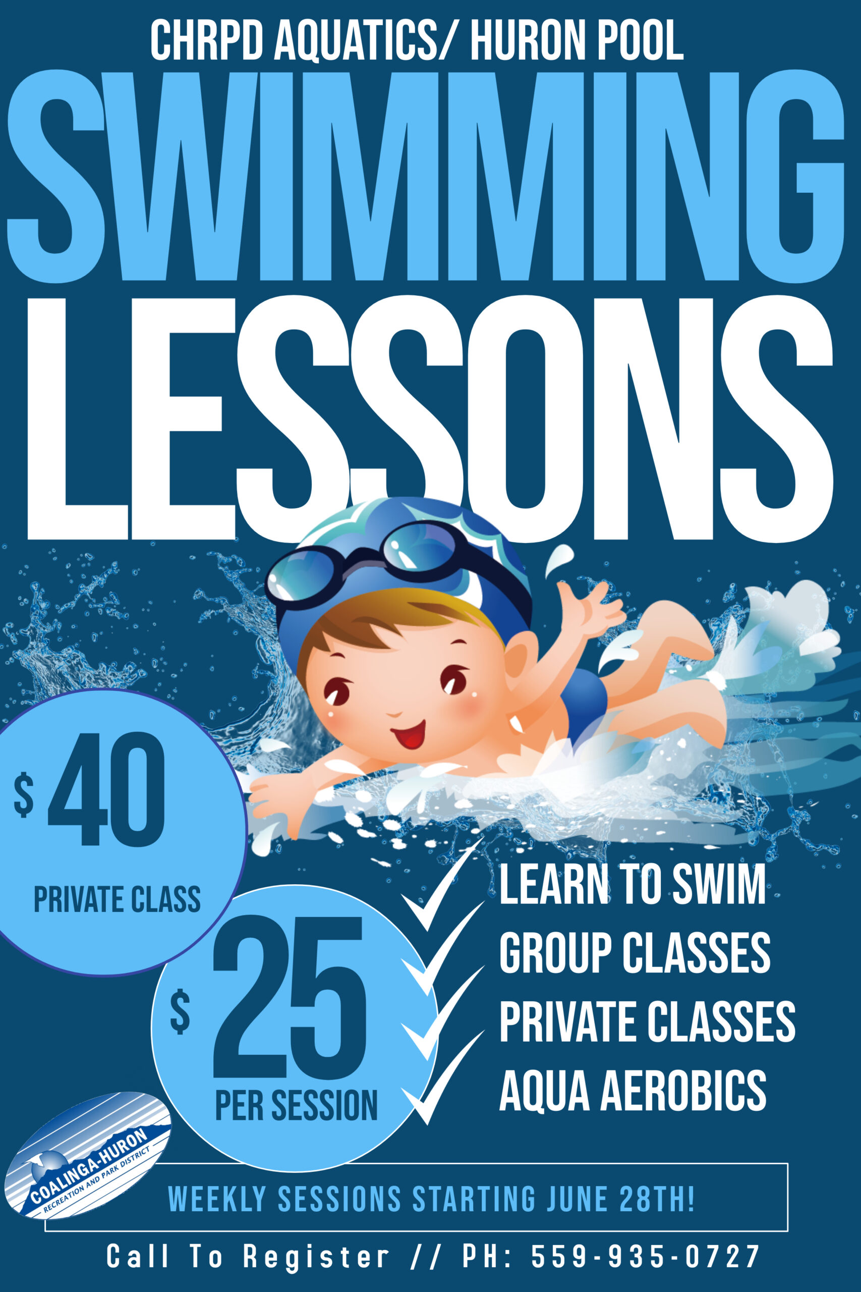 CHRPD Swimming Lesson Flyer 2021 HURON