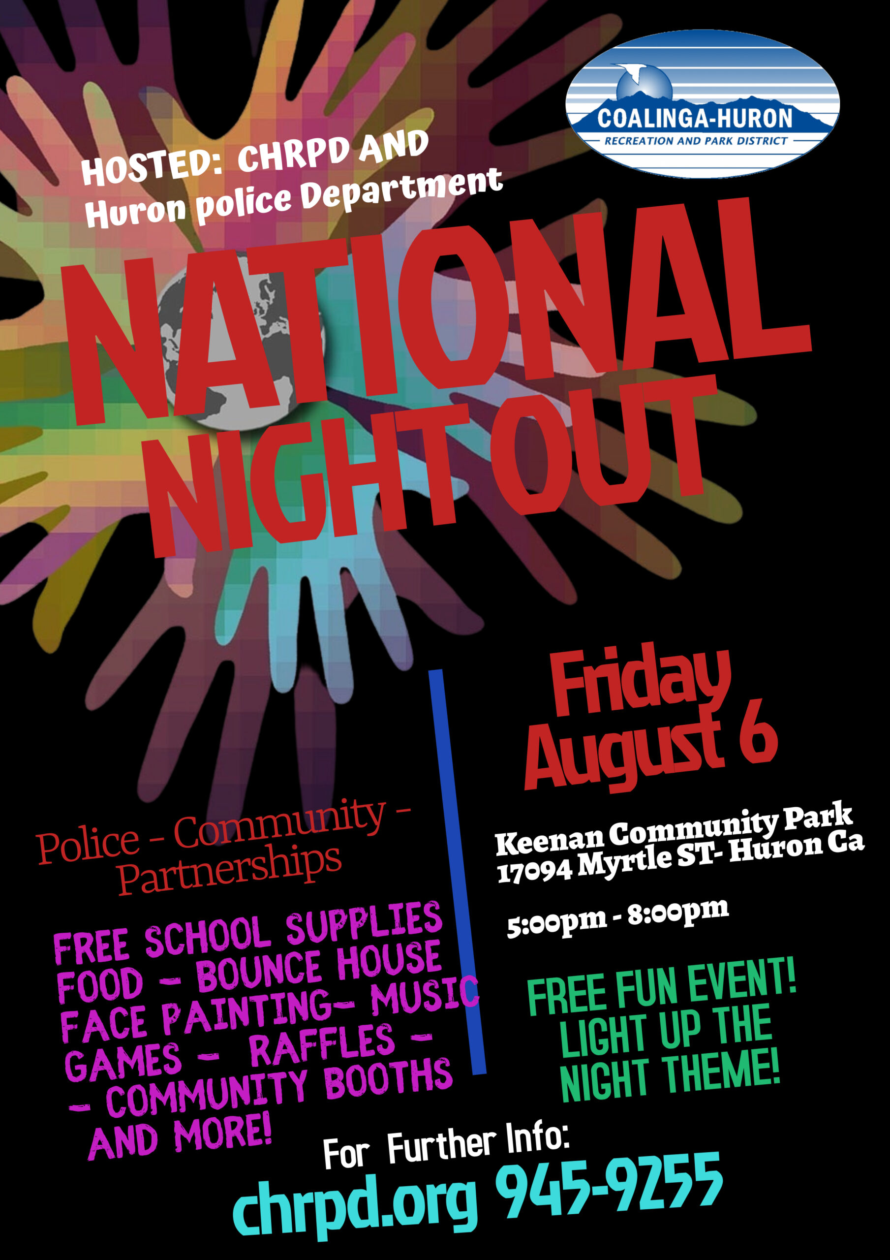 Huron National Night Out Flyer