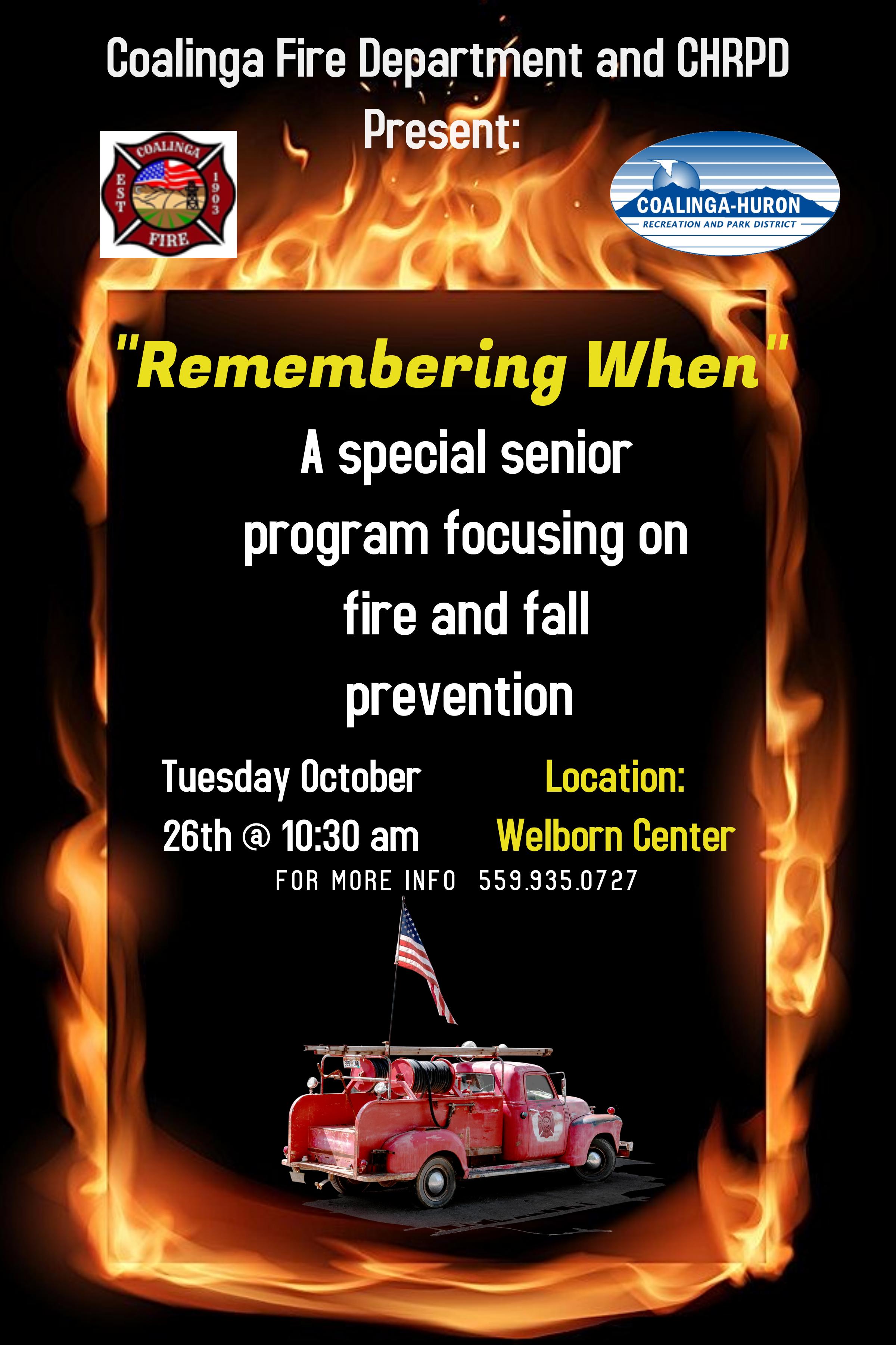 Senior Fire Prevention presentation CFD