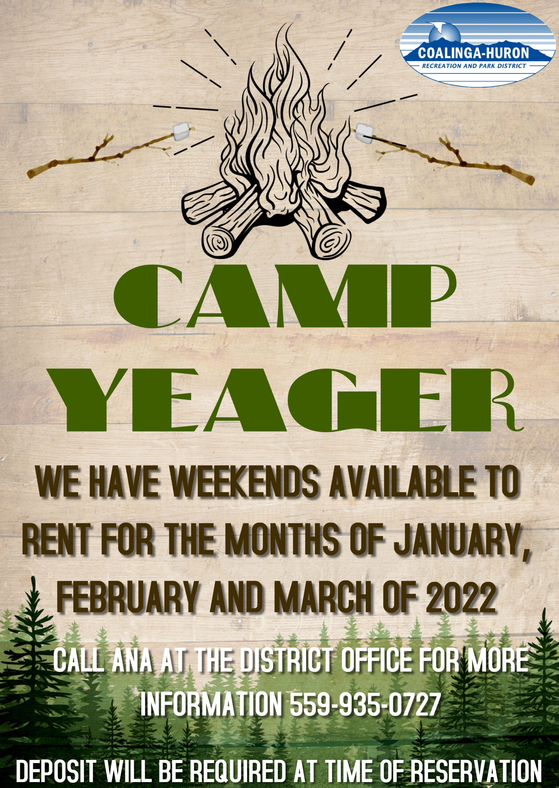 CAMP YEAGER OPEN WEEKENDS 2022